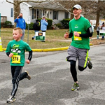 St Paddys Run kid and dad