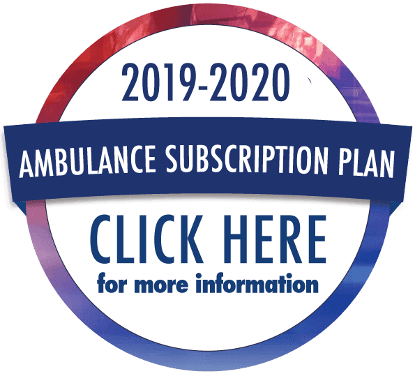 Click here for more information on the 2019-2020 Ambulance Subscription Plan